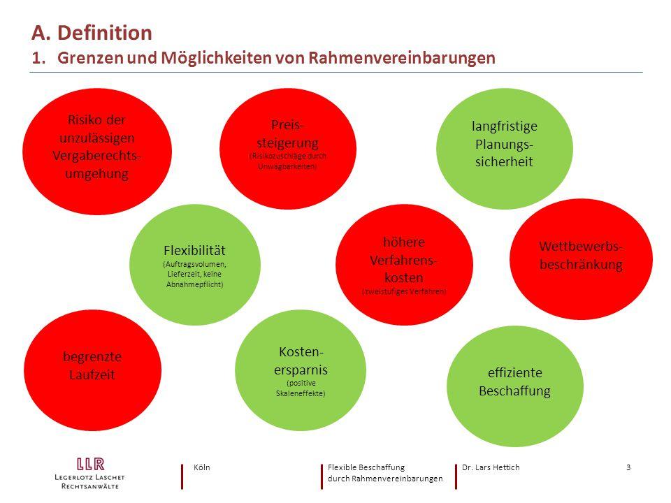 A. Definition 1. Grenzen und Möglichkeiten von Rahmenvereinbarungen