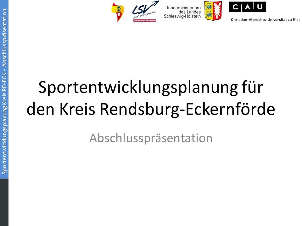 Sportentwicklungsplanung für den Kreis Rendsburg-Eckernförde