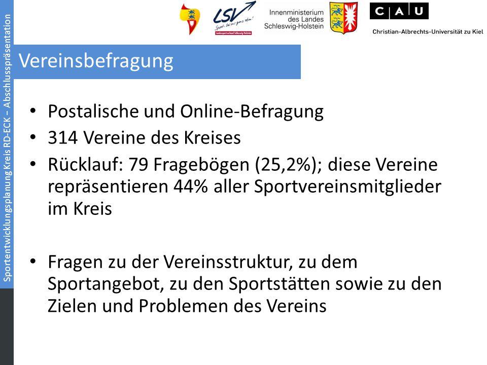 Vereinsbefragung Postalische und Online-Befragung