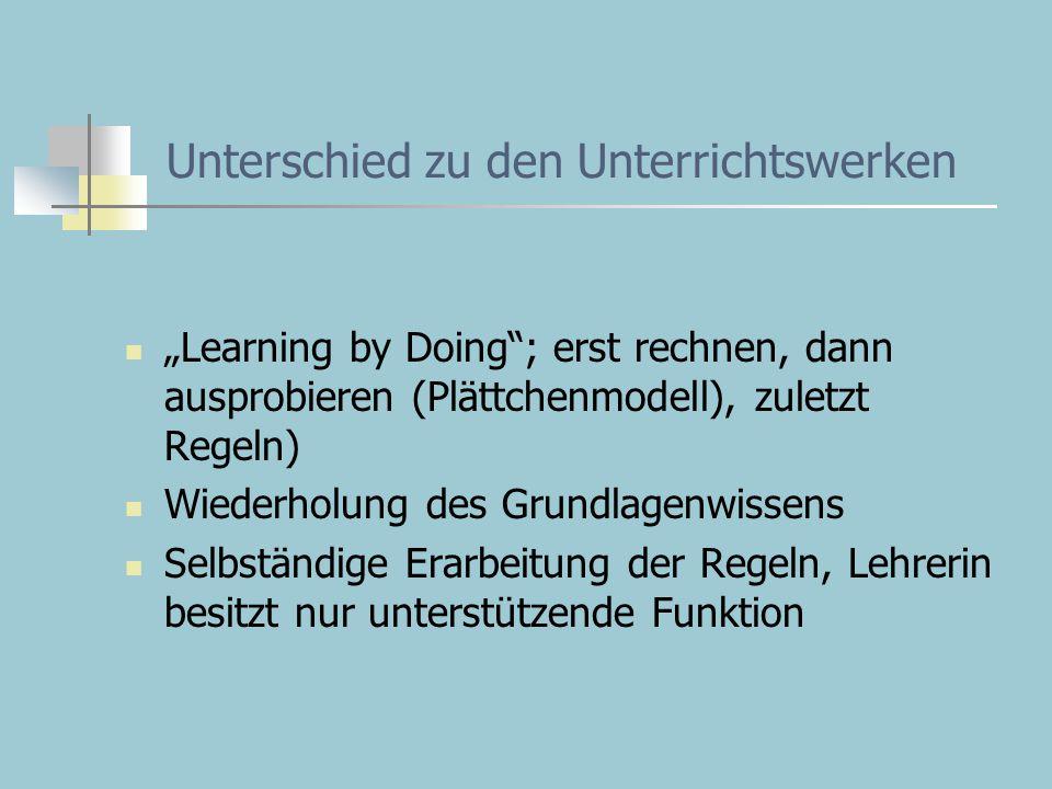 Unterschied zu den Unterrichtswerken