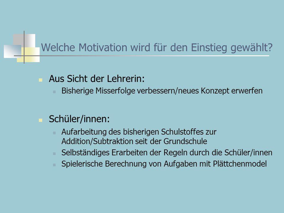 Welche Motivation wird für den Einstieg gewählt