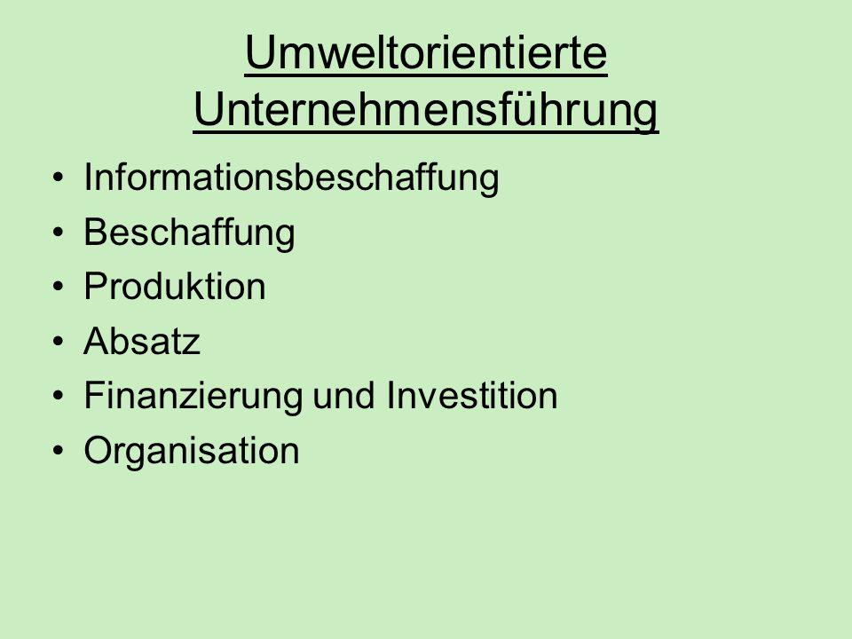 Umweltorientierte Unternehmensführung