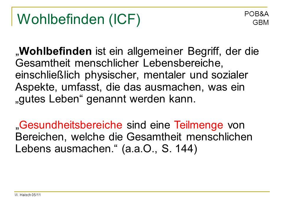 Wohlbefinden (ICF)