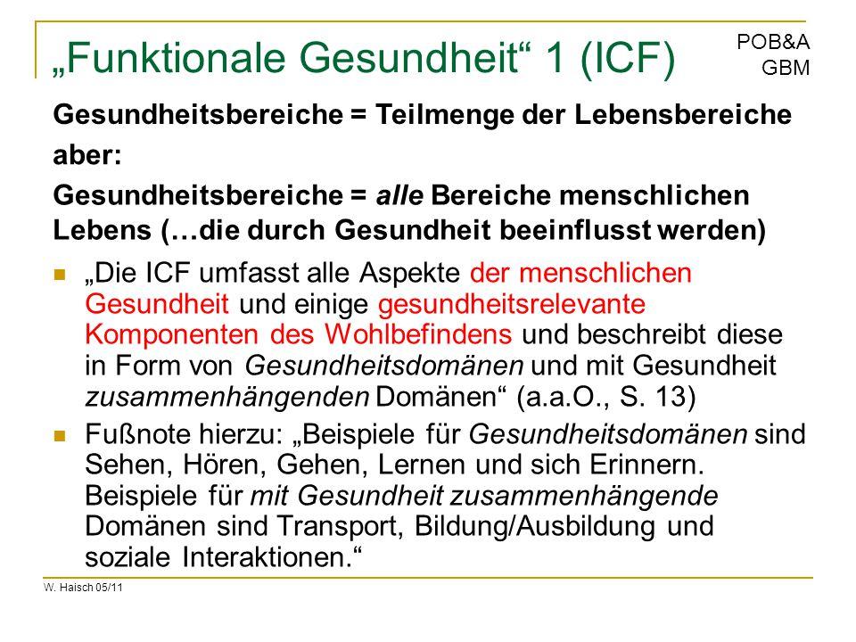 """Funktionale Gesundheit 1 (ICF)"