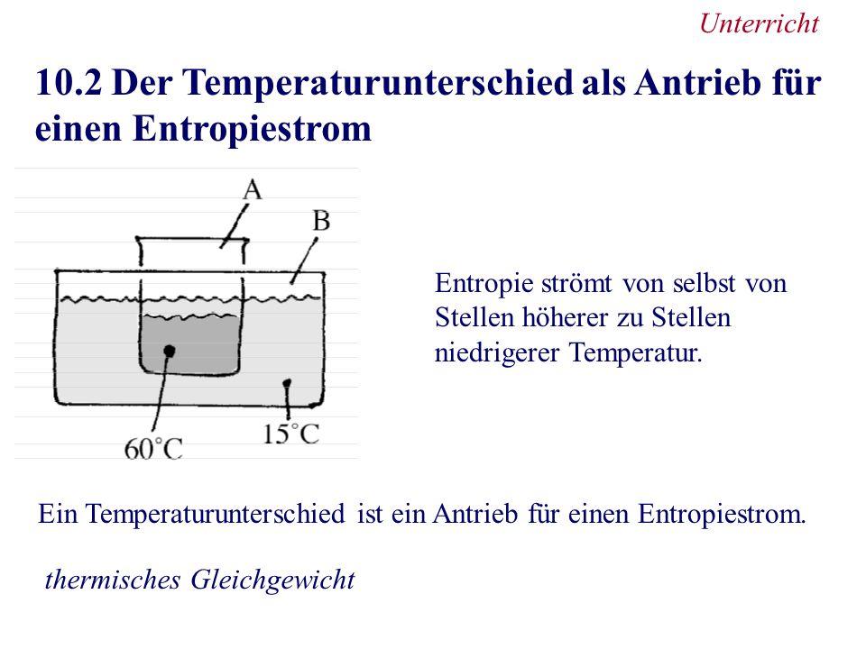 10.2 Der Temperaturunterschied als Antrieb für einen Entropiestrom