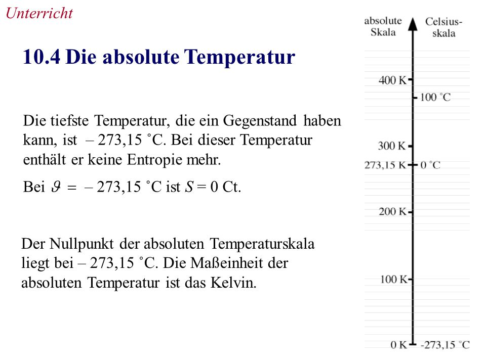 10.4 Die absolute Temperatur