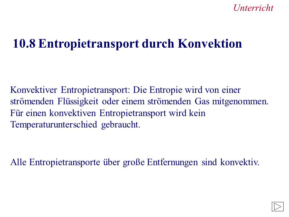 Unterricht 10.8 Entropietransport durch Konvektion.