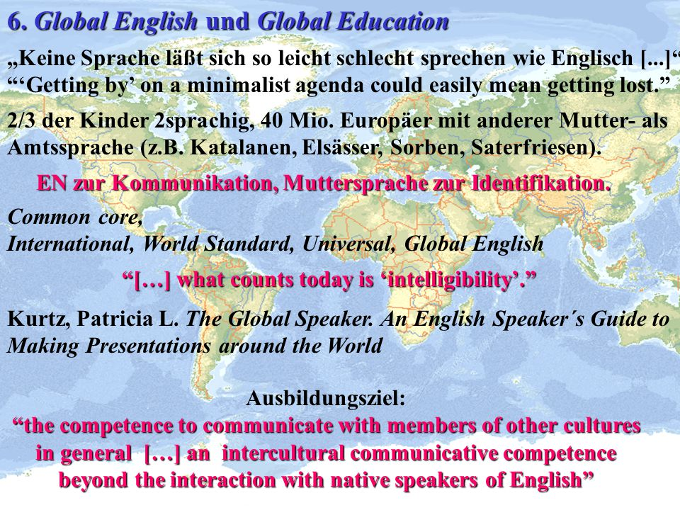 6. Global English und Global Education
