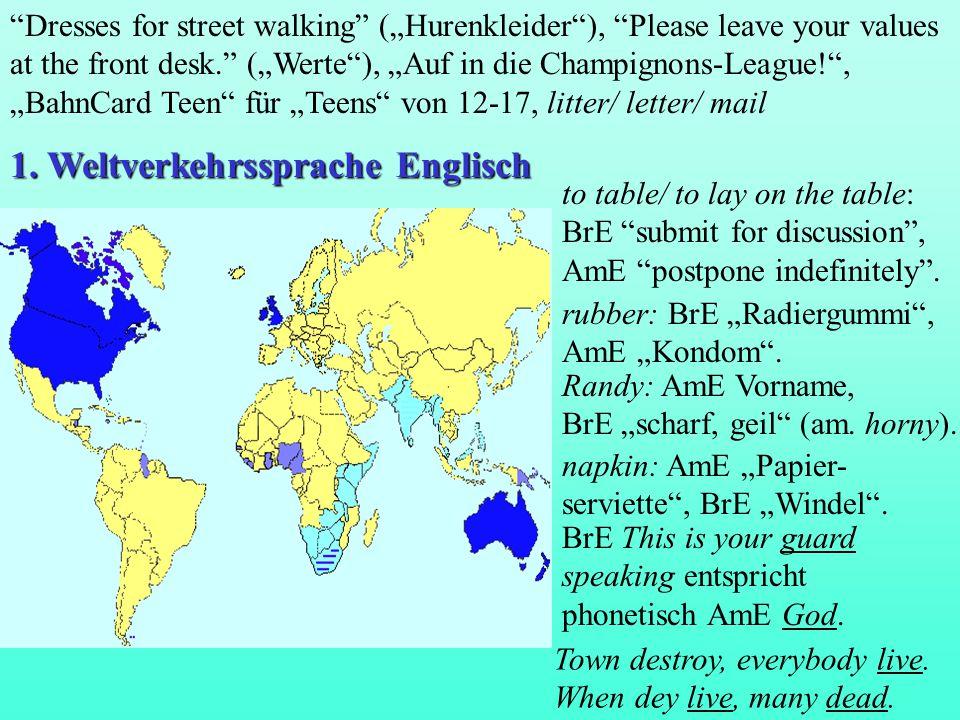 1. Weltverkehrssprache Englisch