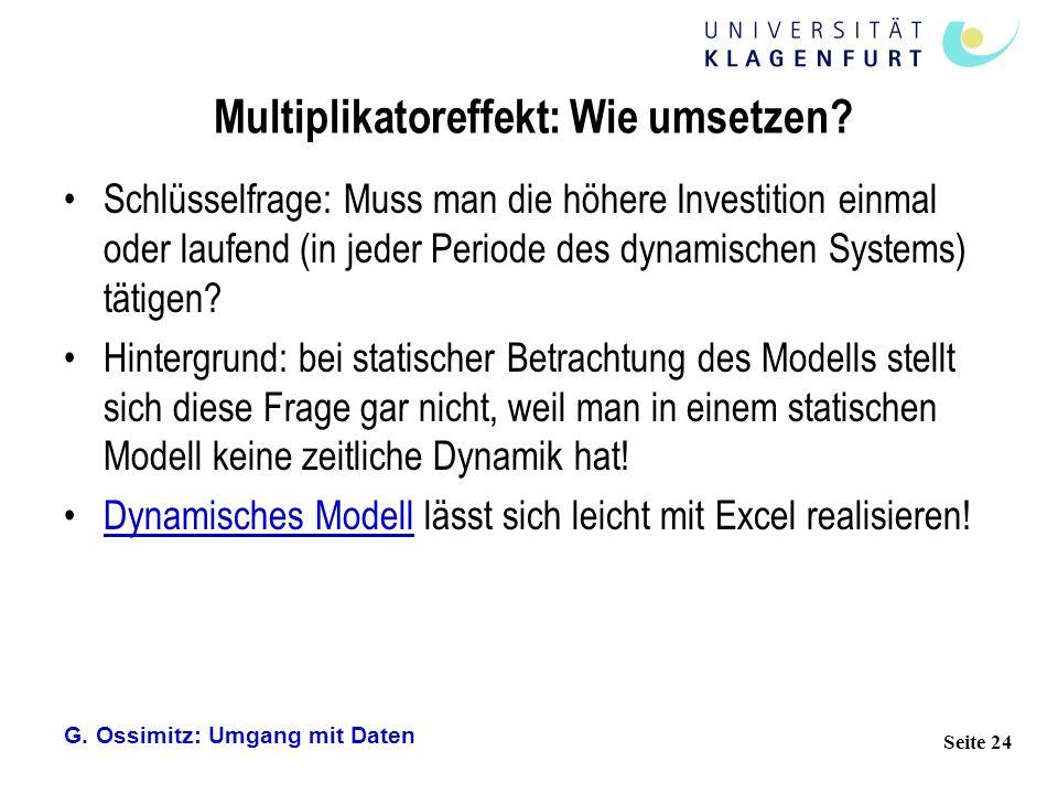 Multiplikatoreffekt: Wie umsetzen