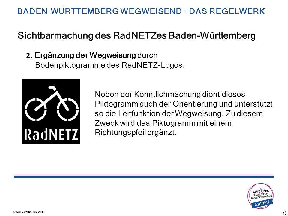 Sichtbarmachung des RadNETZes Baden-Württemberg