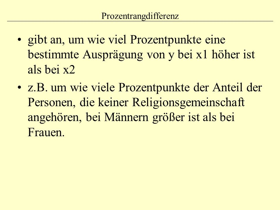 Prozentrangdifferenz