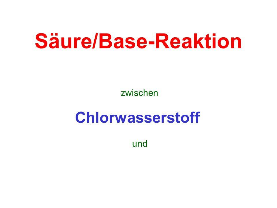 Säure/Base-Reaktion zwischen Chlorwasserstoff und