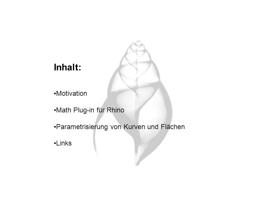 Inhalt: Motivation Math Plug-in für Rhino
