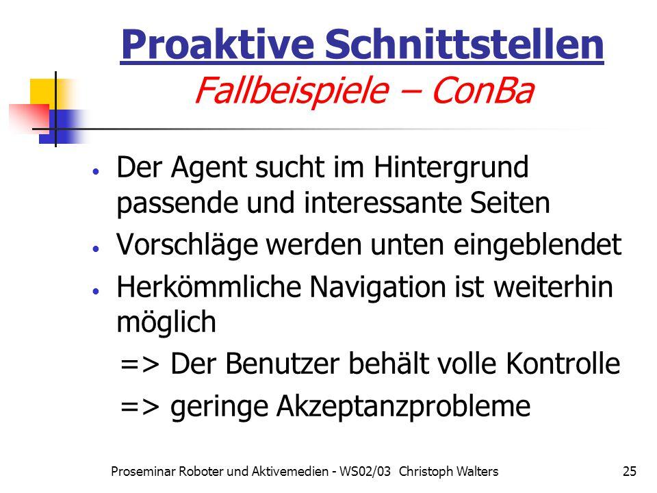 Proaktive Schnittstellen Fallbeispiele – ConBa