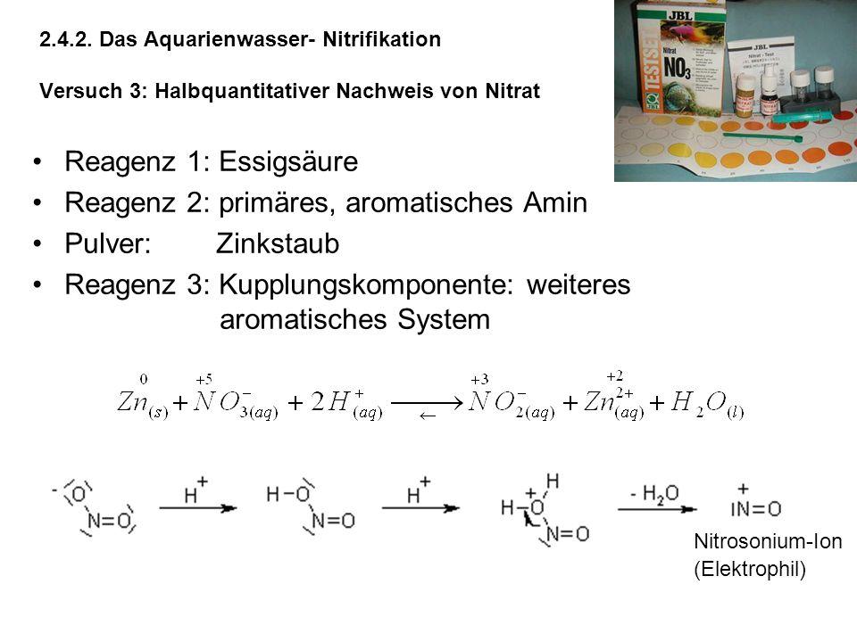Reagenz 2: primäres, aromatisches Amin Pulver: Zinkstaub