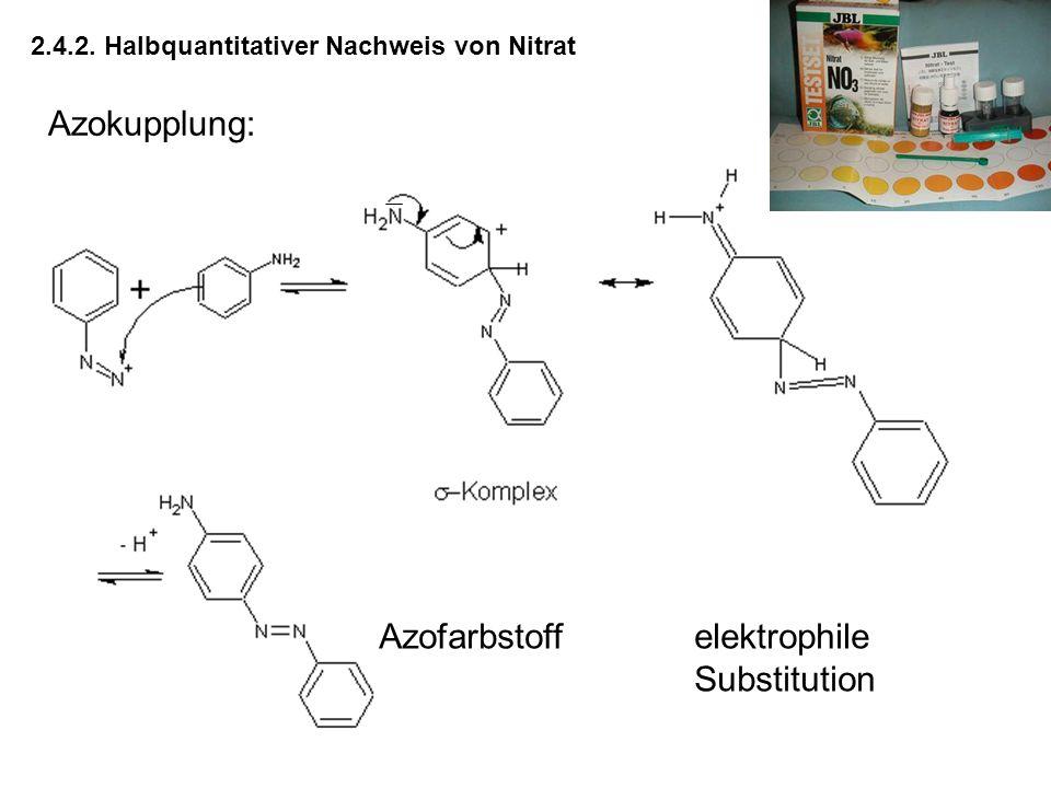 2.4.2. Halbquantitativer Nachweis von Nitrat