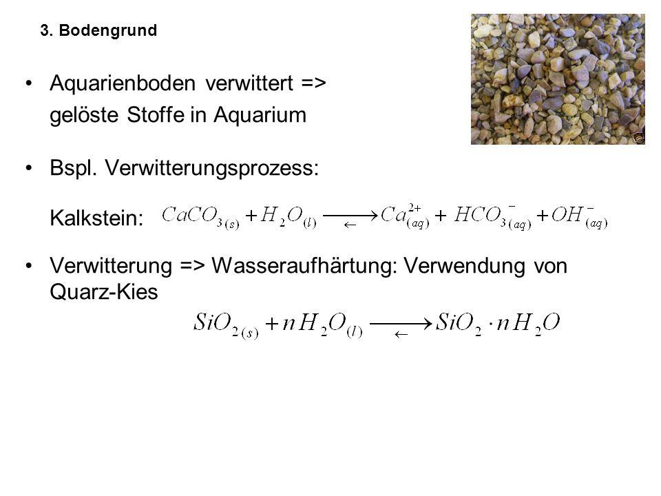 Aquarienboden verwittert => gelöste Stoffe in Aquarium