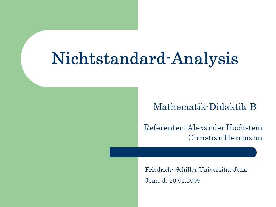 Nichtstandard-Analysis