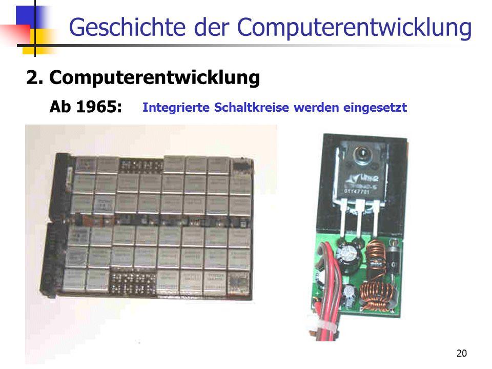 Geschichte der Computerentwicklung