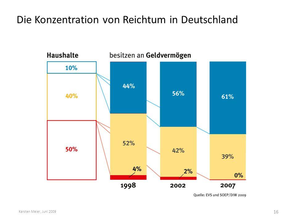 Die Konzentration von Reichtum in Deutschland