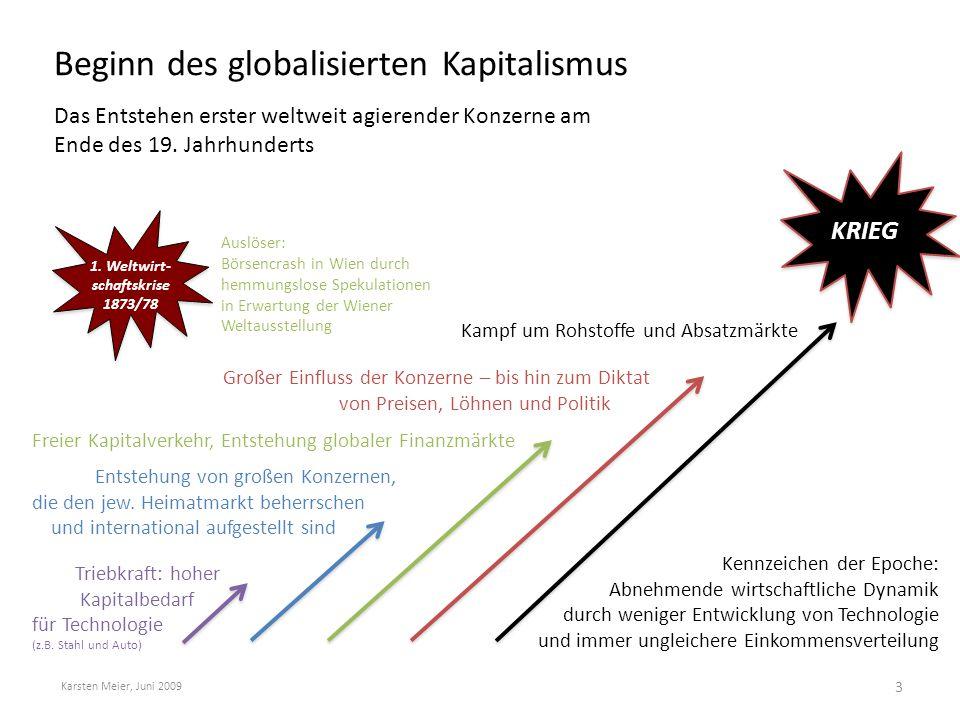 Beginn des globalisierten Kapitalismus