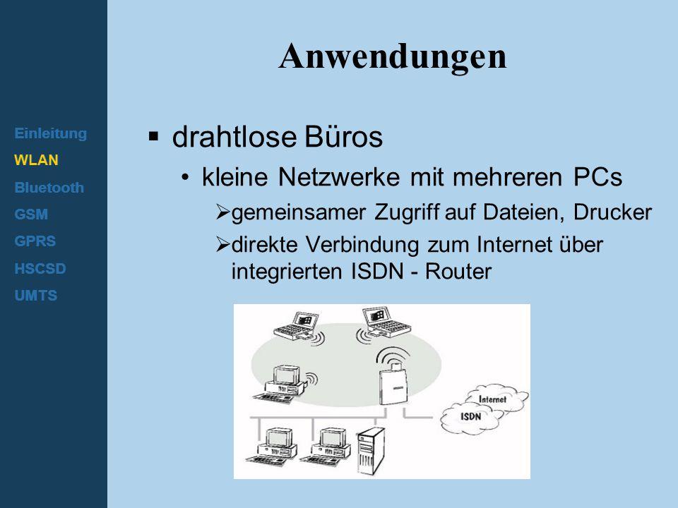 Anwendungen drahtlose Büros kleine Netzwerke mit mehreren PCs