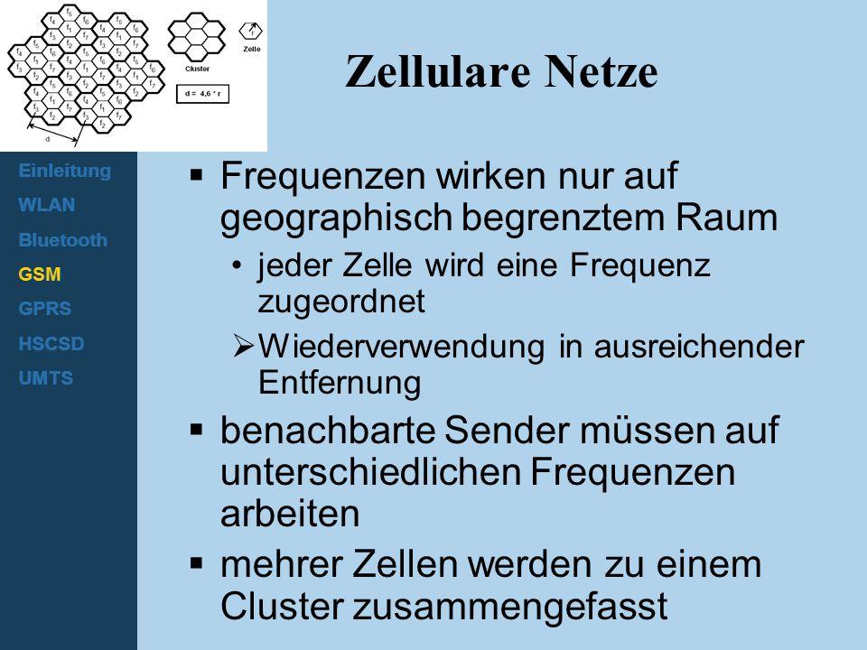Zellulare Netze Frequenzen wirken nur auf geographisch begrenztem Raum
