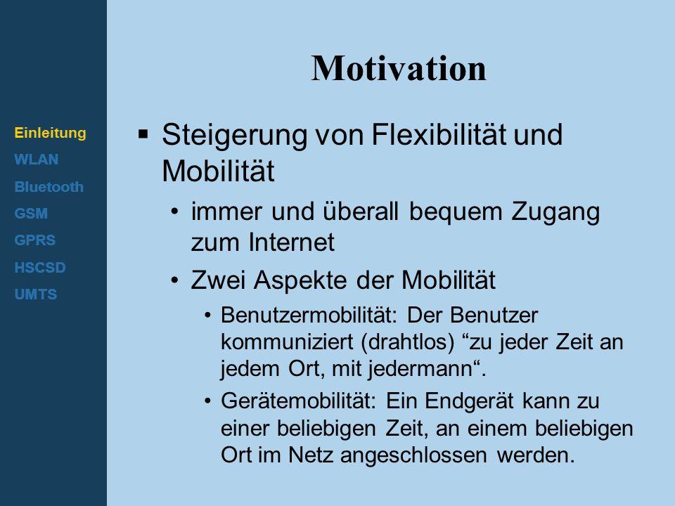 Motivation Steigerung von Flexibilität und Mobilität