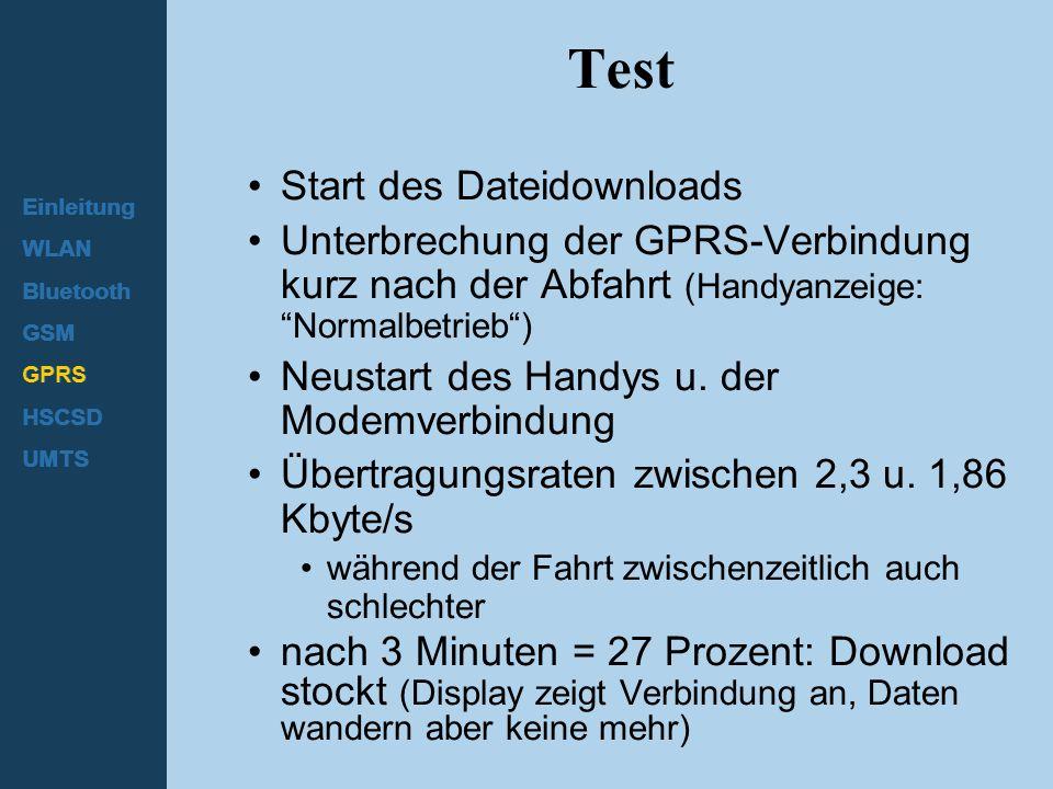 Test Start des Dateidownloads