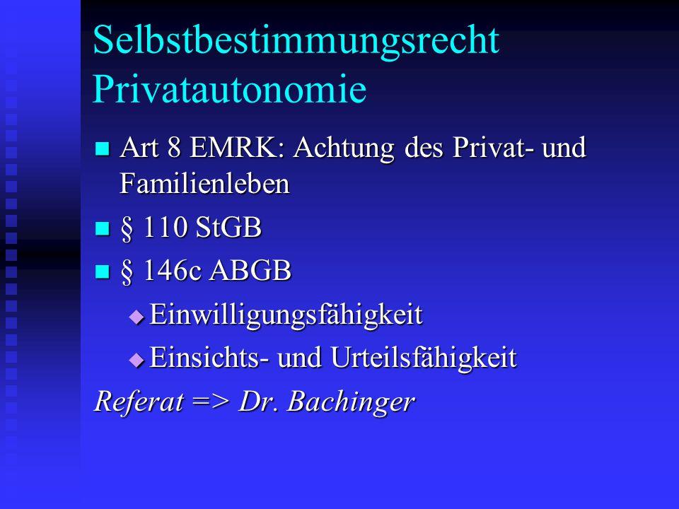 Selbstbestimmungsrecht Privatautonomie