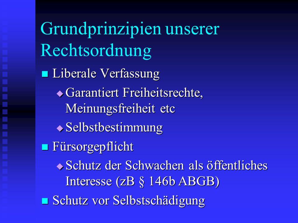 Grundprinzipien unserer Rechtsordnung