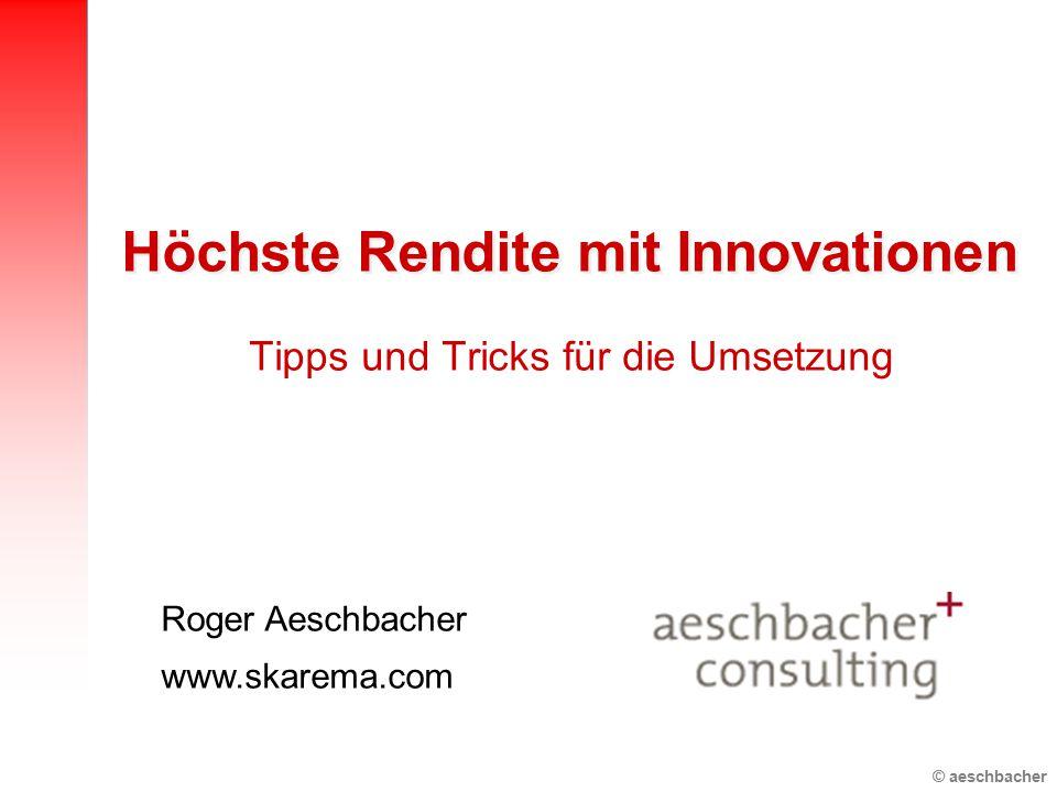 Höchste Rendite mit Innovationen