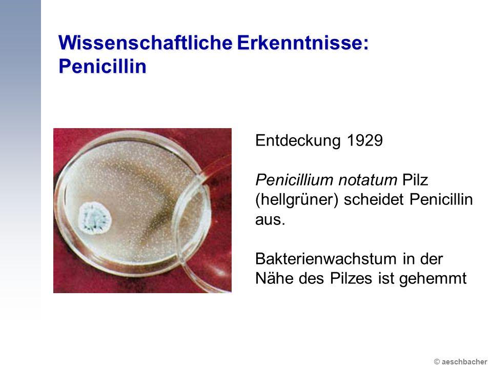 Wissenschaftliche Erkenntnisse: Penicillin