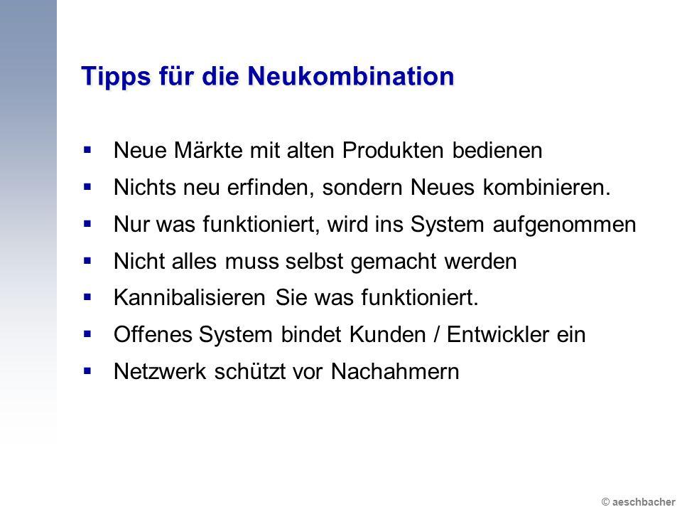 Tipps für die Neukombination