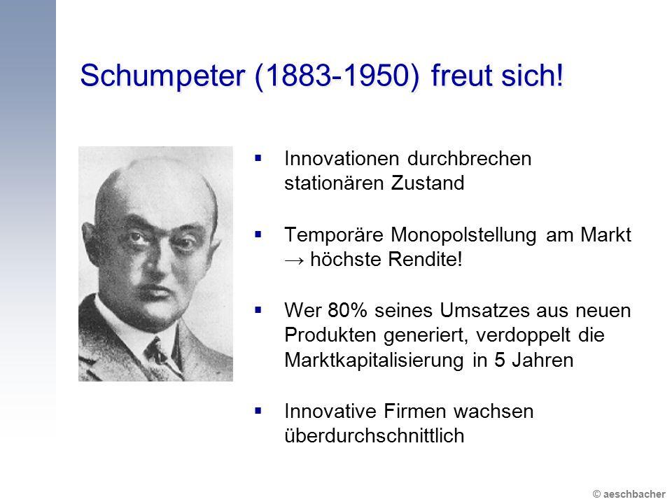 Schumpeter (1883-1950) freut sich!