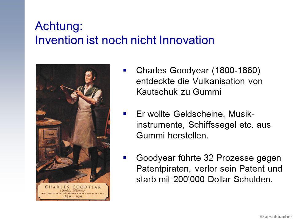 Achtung: Invention ist noch nicht Innovation