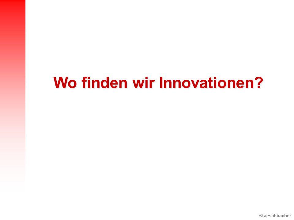 Wo finden wir Innovationen