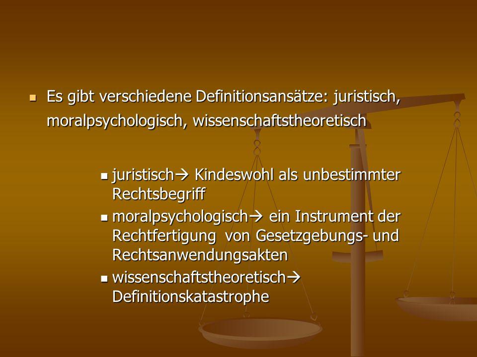 Es gibt verschiedene Definitionsansätze: juristisch, moralpsychologisch, wissenschaftstheoretisch