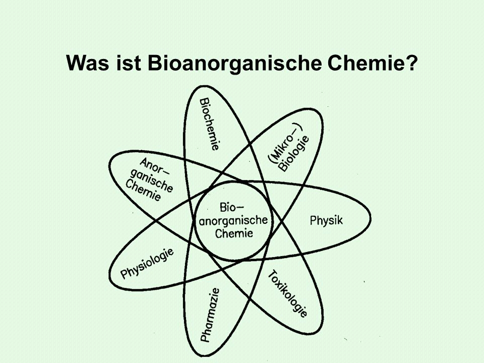 Was ist Bioanorganische Chemie