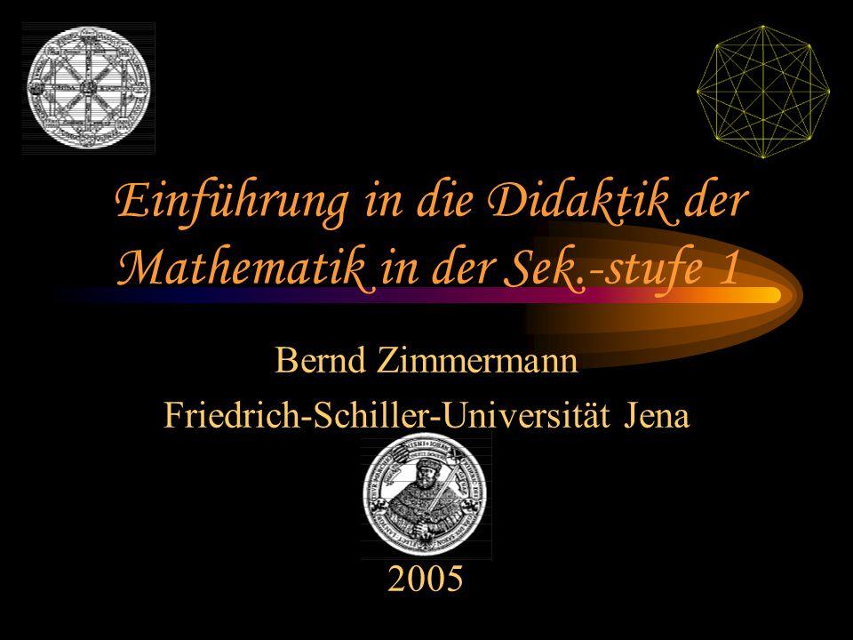 Einführung in die Didaktik der Mathematik in der Sek.-stufe 1