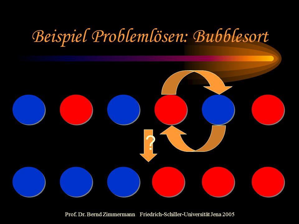 Beispiel Problemlösen: Bubblesort