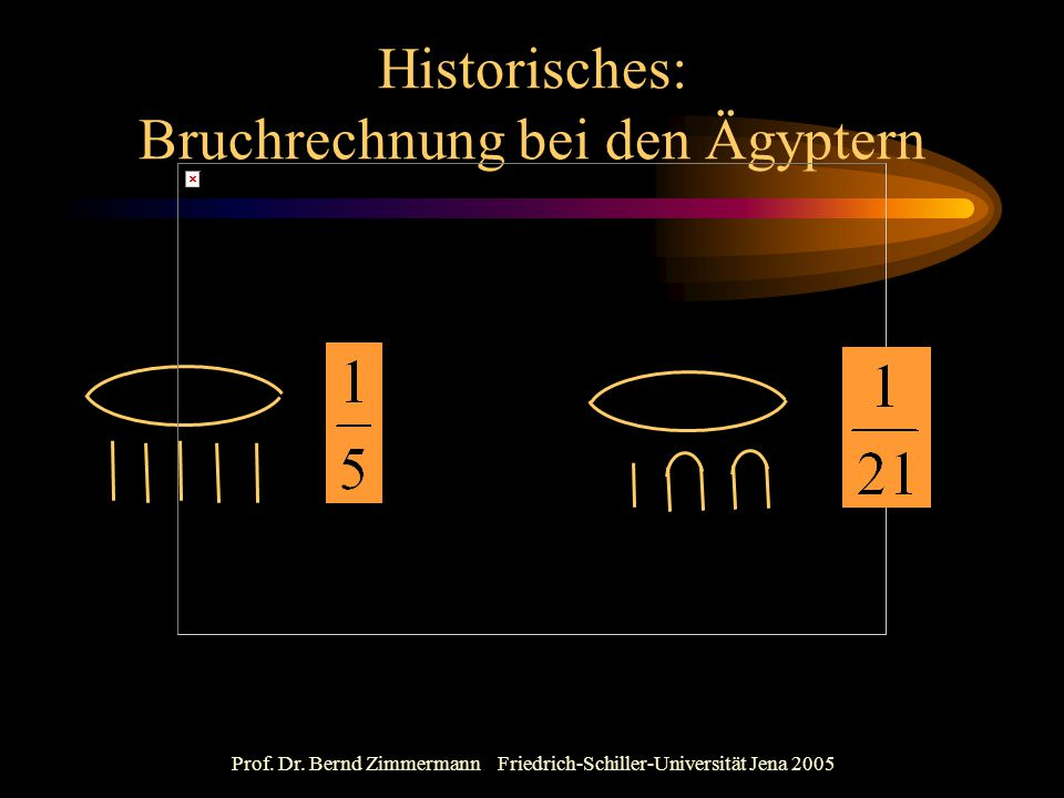 Historisches: Bruchrechnung bei den Ägyptern