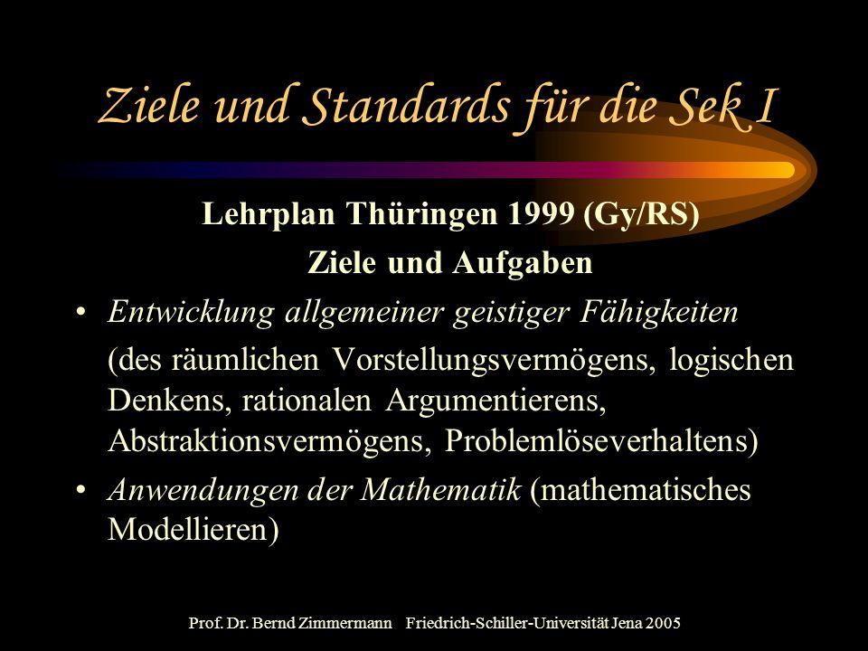 Ziele und Standards für die Sek I