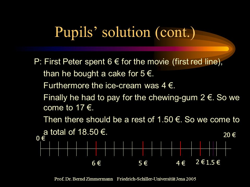 Pupils' solution (cont.)