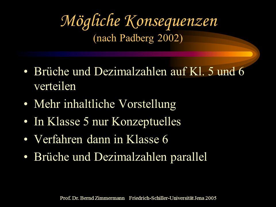 Mögliche Konsequenzen (nach Padberg 2002)