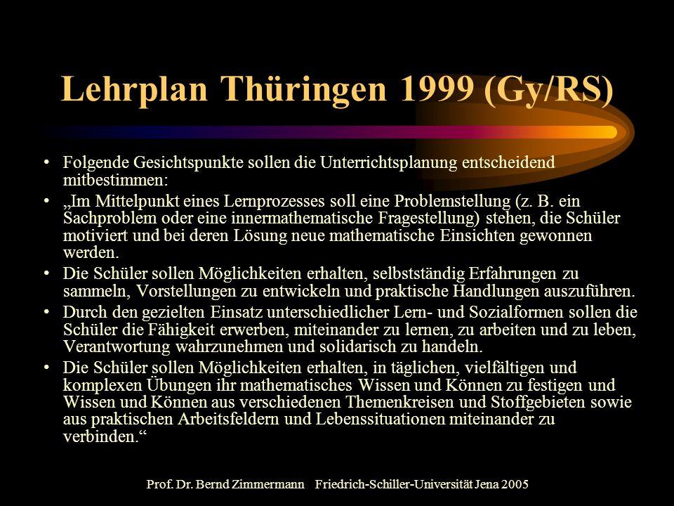 Lehrplan Thüringen 1999 (Gy/RS)