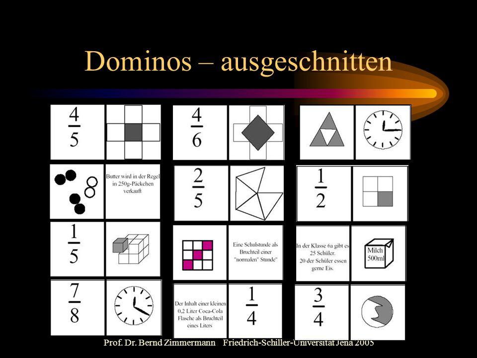 Dominos – ausgeschnitten