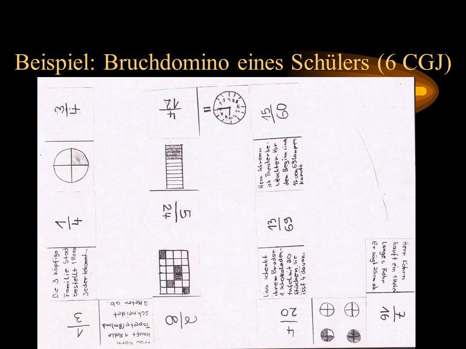 Beispiel: Bruchdomino eines Schülers (6 CGJ)