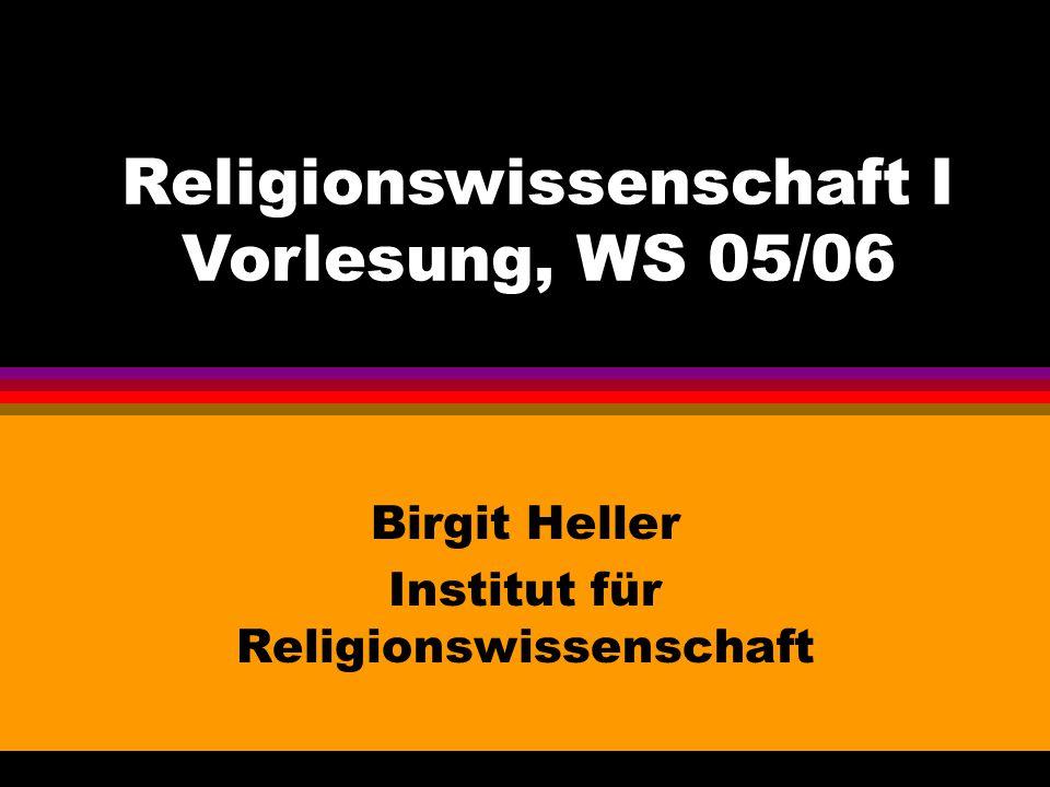 Birgit Heller Institut für Religionswissenschaft